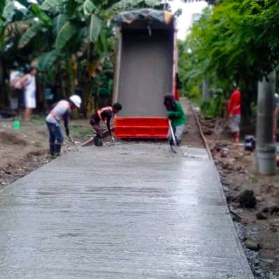 Davao road project using Filmix concrete