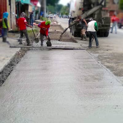 Roadwork project using Filmix ready made concrete