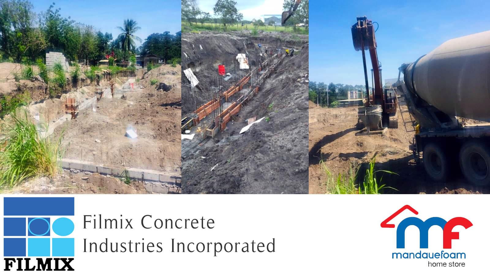 Ready-mix concrete supplier Filmix pouring for Mandaue Foam Gensan