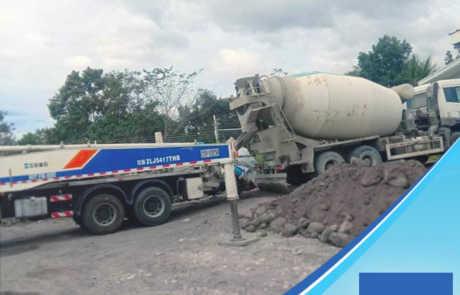 Biogas power plant built using Filmix ready-mix concrete