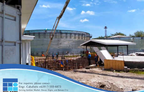 Biogas Plant erected using ready-mix concrete from Filmix Inc