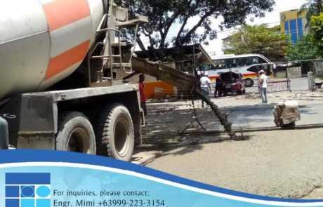 Filmix ready mix concrete pouring at Davao City Ecoland Terminal