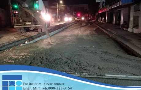 Palma Gil Street, Davao City Filmix ready mix concrete pouring
