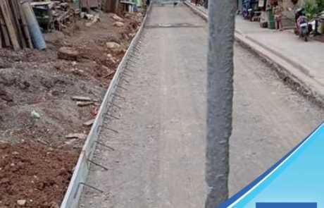 Filmix ready mix concrete roadwork at Puan