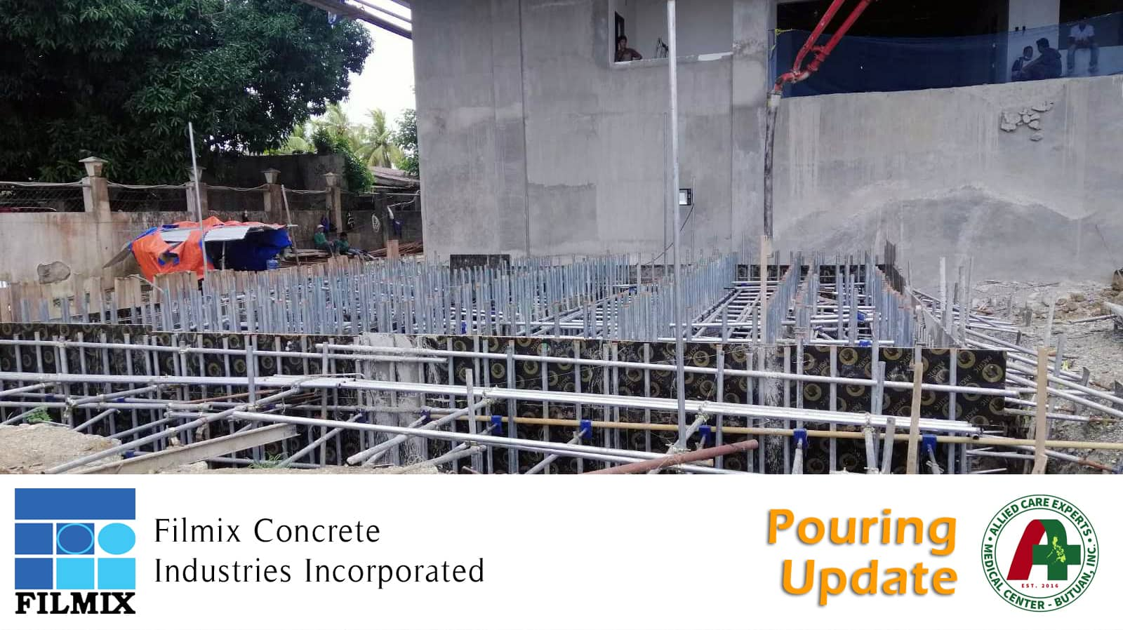 Ready mix concrete pouring update for ACE Medical Center Butuan City
