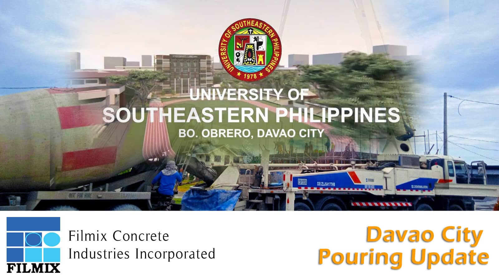 Filmix ready mix concrete Davao pouring update