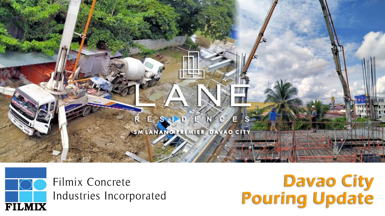 Ready mix concrete pouring update for Davao Lane Residences