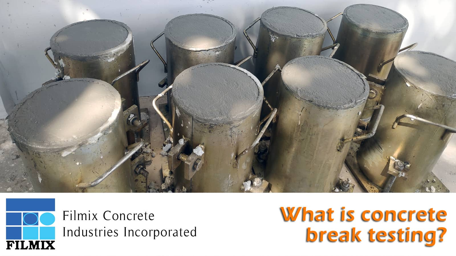 What is concrete break testing?