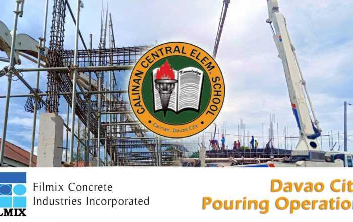 Ready mix concrete pouring at Calinan, Davao City