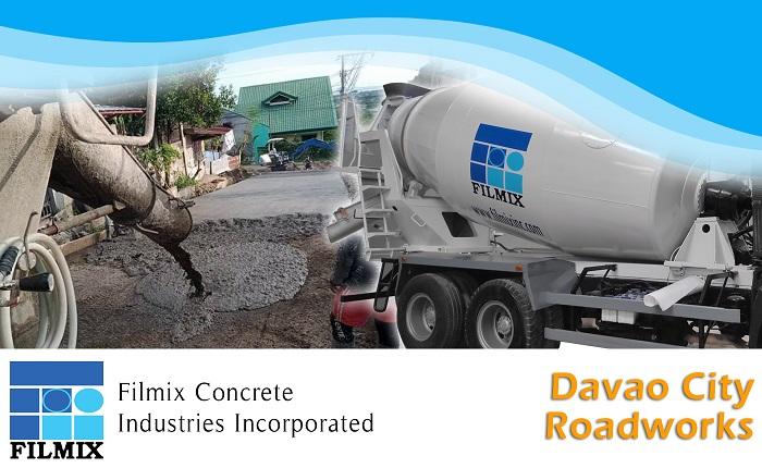 Ready mix concrete pouring for Davao City's pavements
