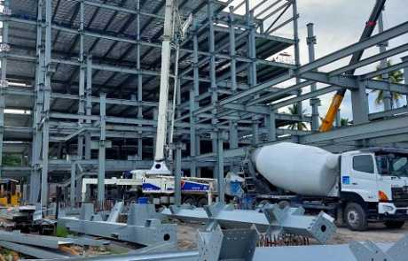 ACE Medical Center Gensan ready mix concrete pouring update 2
