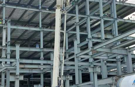 ACE Medical Center Gensan ready mix concrete pouring update 1