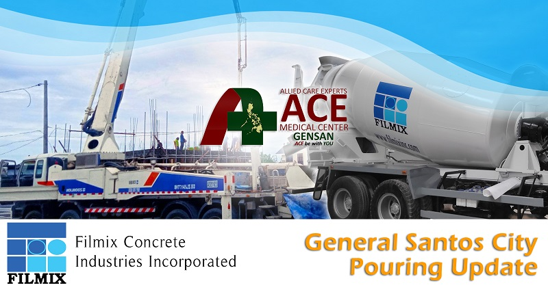 ACE Medical Center Gensan ready mix concrete pouring update