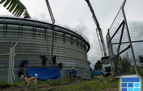 Dole biogas plant poured with Filmix ready mix concrete 4