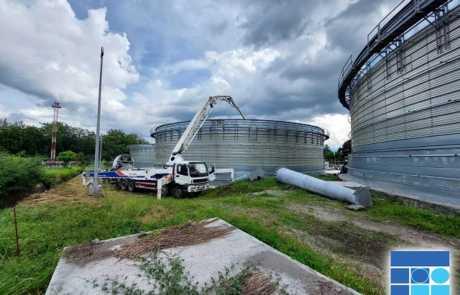 Dole biogas plant poured with Filmix ready mix concrete 5