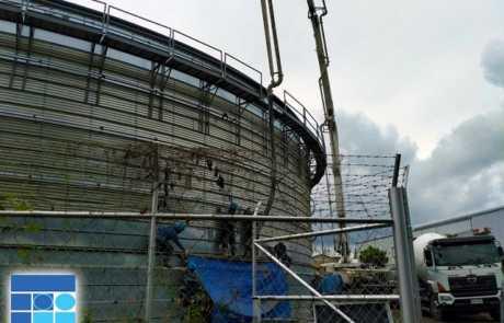Dole biogas plant poured with Filmix ready mix concrete 2