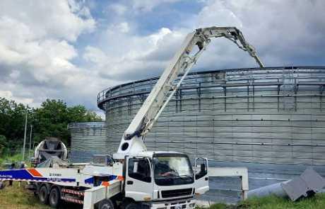 Dole biogas plant poured with Filmix ready mix concrete 3