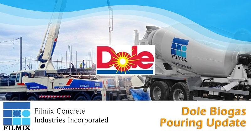 Dole biogas plant poured with Filmix ready mix concrete