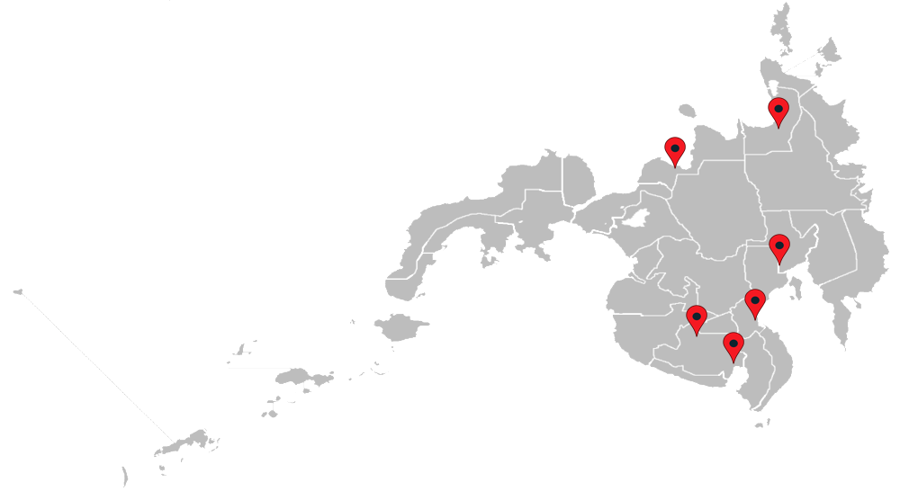Transparent map of Mindanao for Filmix locations